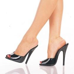 High Heels Heels Mules Pleaser DOMINA-101 Black patent