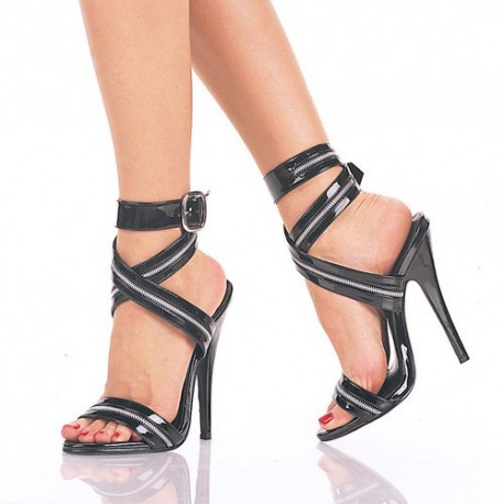 High Heels Sandals Pleaser DOMINA-119 Black patent