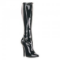 High Heels Knee Boots Pleaser DOMINA-2000 Black patent