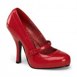 Platforms Pumps Pin Up Couture CUTIEPIE-02 Red patent