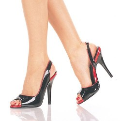 High Heels Sandals Pleaser SEDUCE-117 Black patent