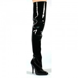 High Heels Thigh High Boots Pleaser SEDUCE-3010 Black patent