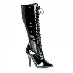 High Heels Knee Boots Pleaser SEDUCE-2020 Black patent