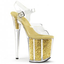 High Platforms Sandals Devious FLAMINGO-808G Gold