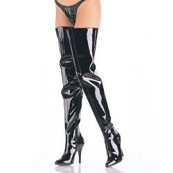 High Heels Thigh High Boots Pleaser SEDUCE-4010 Black patent