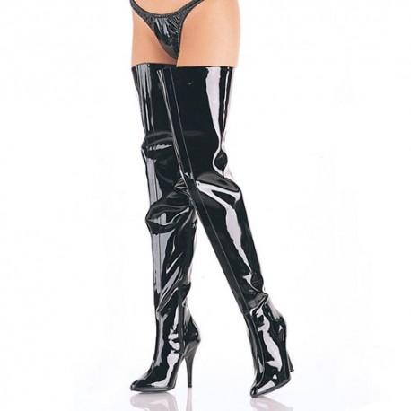 High Heels Thigh High Boots Pleaser SEDUCE-4010 Black patent