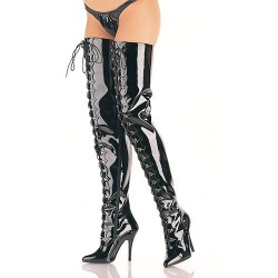 High Heels Thigh High Boots Pleaser SEDUCE-4026 Black patent
