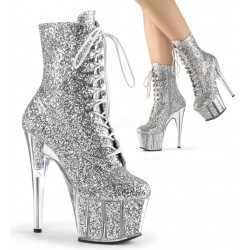 High Platforms Ankle Boots Pleaser ADORE-1020G Silver