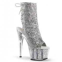 High Platforms Ankle Boots Pleaser ADORE-1018G Silver