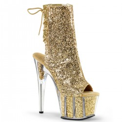 High Platforms Ankle Boots Pleaser ADORE-1018G Gold