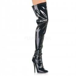 High Heels Thigh High Boots Pleaser DOMINA-3000 Black patent