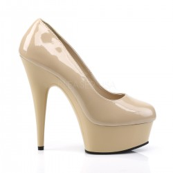 Platforms Pumps Pleaser DELIGHT-685 Cream patent