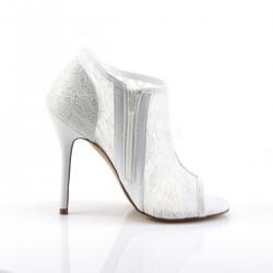 Alto Scarpe Pleaser AMUSE-56 Bianco